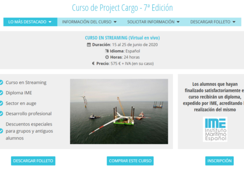 IME Nuevo formato: Curso de Project Cargo en Streaming